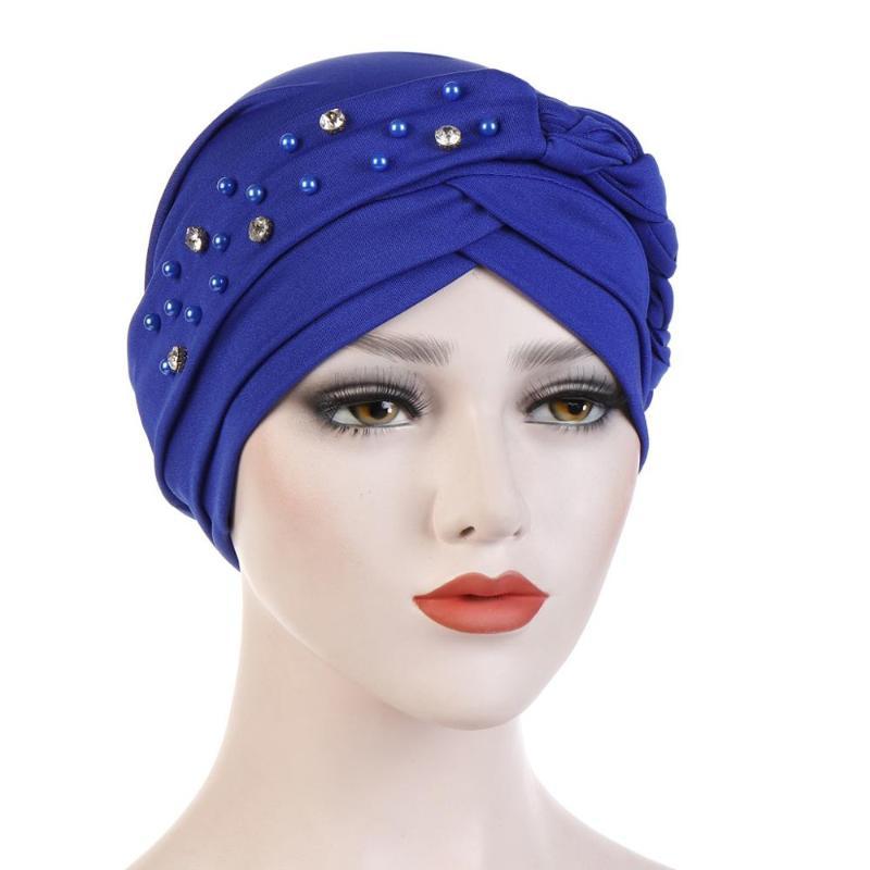 Muslim Woman Flower Stretchable Cap Turban Chemo Hijab Scraf Islamic Wrap Hats