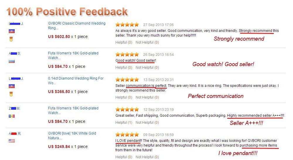 perfect feedback fine jewelry