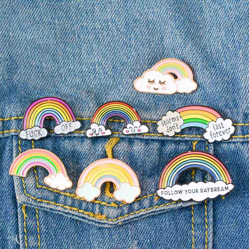 Rainbow Enamel Brooch For Women Men Gay Lesbian Pride Lapel Pins badge Fashion Jewelry brooches broches de créateurs