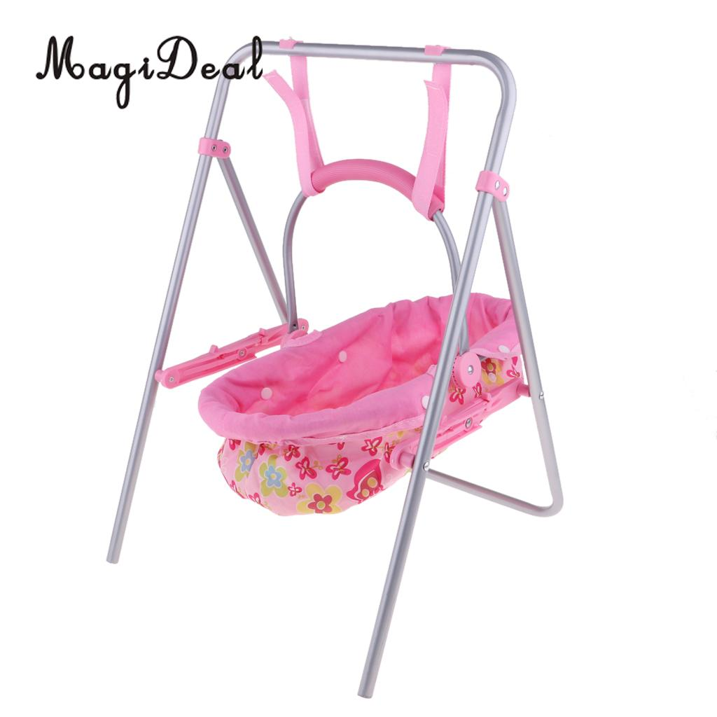 Simulation Baby Dolls Swing Cradle Accessory Pretend Toys For Nursery Room Furniture Decpration
