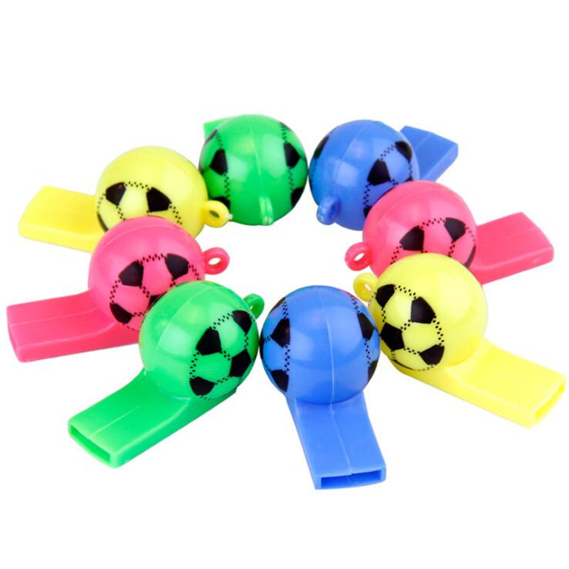 2018 Kids Cartoon Football Whistle Smile Face Whistles Npise Maker Match Cheer Props Children Toys Birthday Party Favor Gift