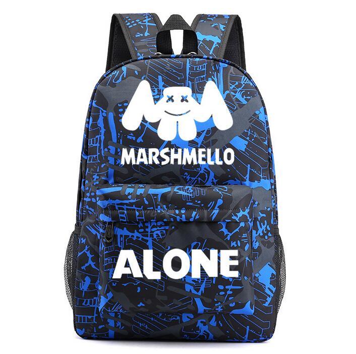 Hot Marshmello DJ Starry Sky Backpack Student Bag Travel Bag Rucksack Packsack