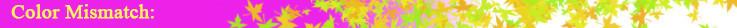 color mismatch