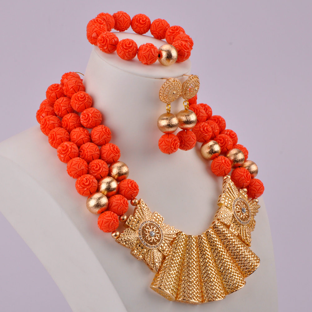 Orange Artificial Coral Beads-02-170 (5)