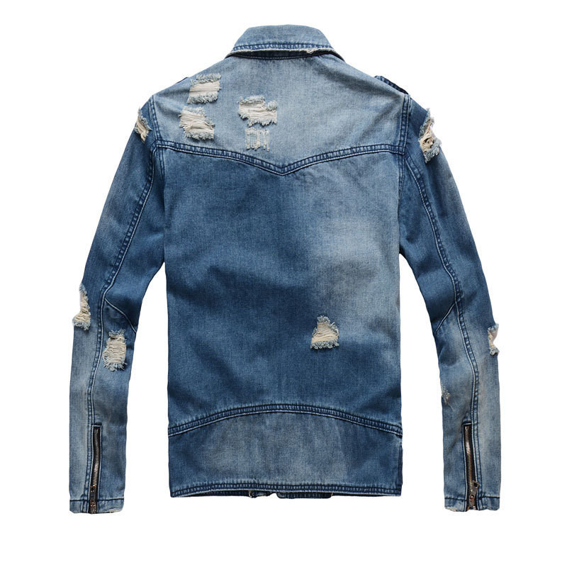 2018-New-Mens-Fashion-High-Street-Zippers-Jeans-Jackets-Casual-black-blue-slim-Streetwear-Motorcycle-Ripped