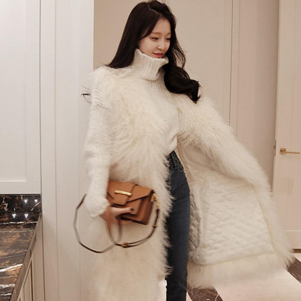 Мода Зима Теплая Женщины Повседневная Кардиган Искусственный Мех Жилет Без Рукавов Толстые Пальто Новый Случайный Мех Жилет
