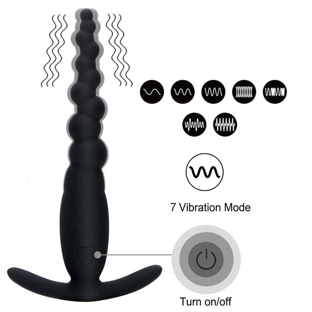 Vibrating Anal Plug Beads Butt Plug G spot Stimulation Anal Vibrator Prostate Massage Men Masturbation Adults Sex Toys for Women (7)