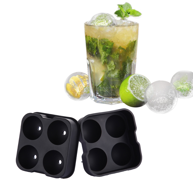 Diy Large Silicone Ice Maker Tray Ice Cream Tool Ice Ball Mold For Whiskey Cocktail Mold Kitchen Bar Tools