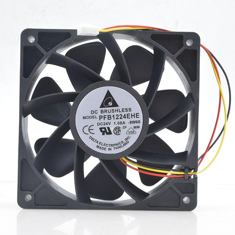 for Delta EFB1248SHE 48V 0.30A 12CM 3 line 3 Blade Industrial Computer Detection Fan