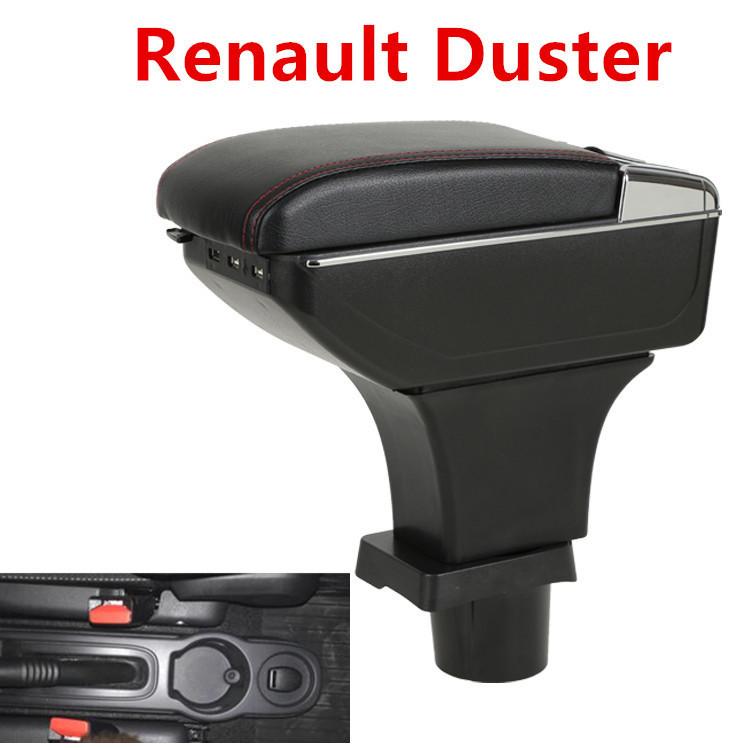 Fanuse para Duster Reposabrazos Caja Central Tienda Contenido Caja Portavasos Cenicero Interior Car-Styling Decoraci/óN Accesorios