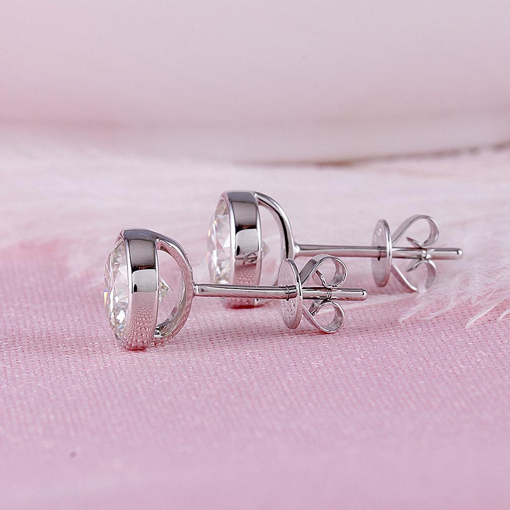 bezel moissanite earrings (5)