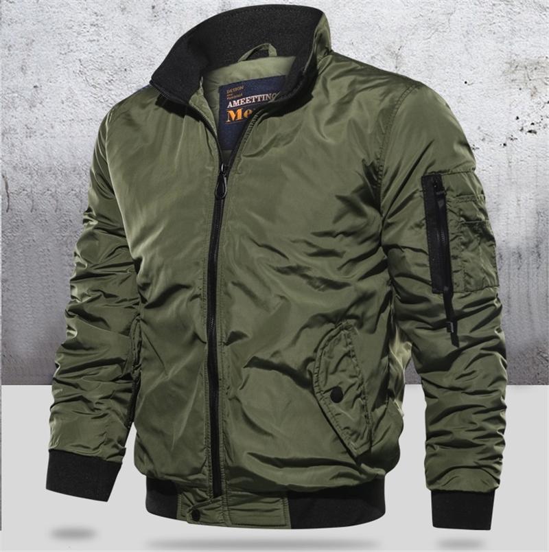 GRMO Men Casual Thick Padded Jacket Winter Warm Zipper Jacket Hooded Coat