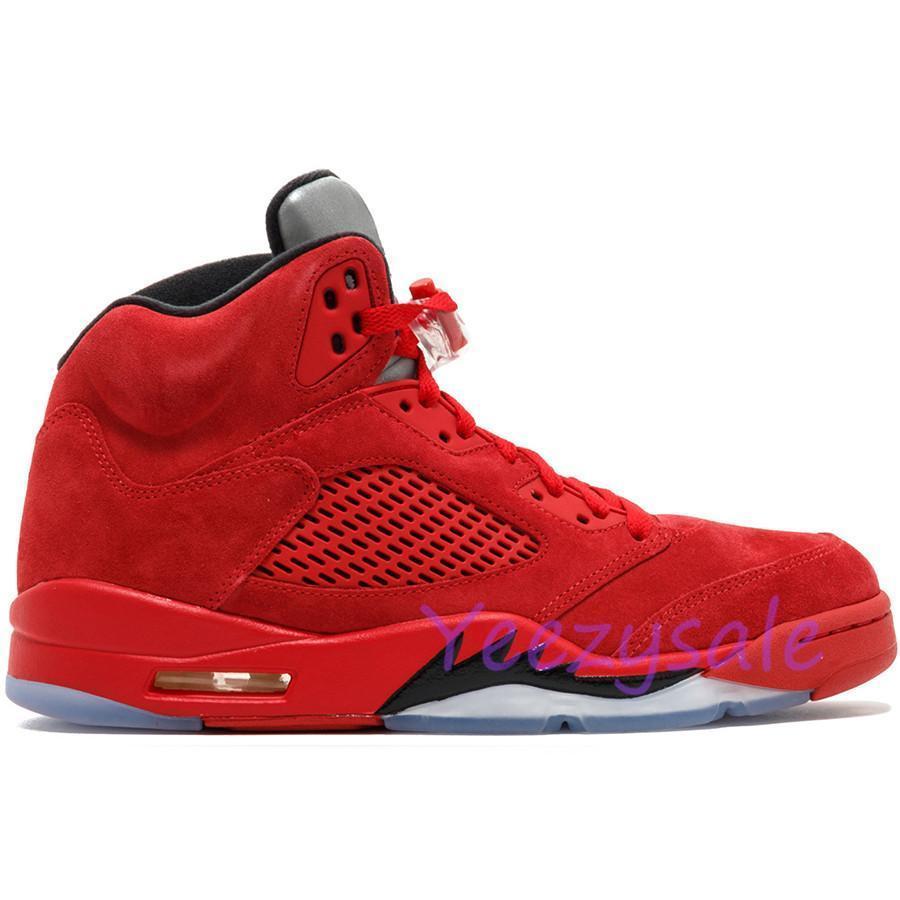 5 5s Alas Oregon Ducks Camo Negro Metalizado Reflejo Negro Uva Zapatos de baloncesto Oreo Hombres 5s Rojo Azul Gamuza Zapatillas de deporte de cemento blanco 8-13