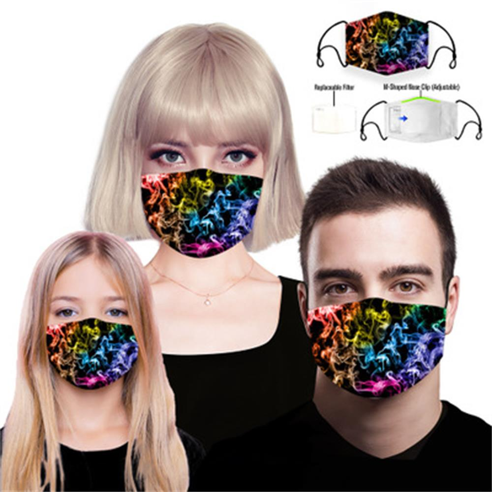Replaceable 5 Layer Filter Designer Face Mask, Reusable Protective Cotton Kids Face Mask Washable Fashion Dust Cloth Disposable Face Mask