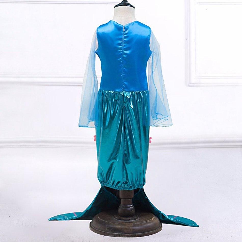 Girls Little Mermaid Summer Princess Dress (3)
