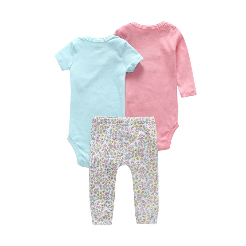 6-24 Month Newborn Outfits Clothing Set For Infant Baby Boy Girl Cute Cartoon Unicorn Bodysuit+romper+pants Cotton J190427