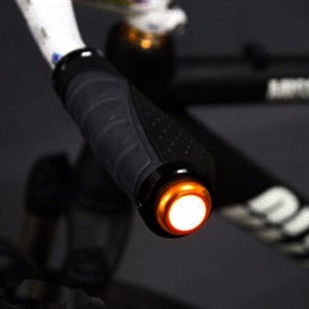 Moda Yeni Bisiklet Bisiklet Bisiklet Gidon Bar Sonu Kırmızı LED Fiş Işık Emniyet Lambası Yeni Bisiklet Gidon Işık