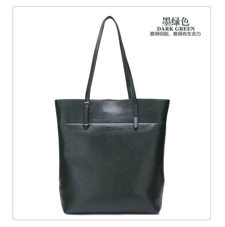 Charm2019 China Will Pattern Dual Color Oil Wax Cowhide Genuine Leather Woman Bale Single Shoulder Package Trend Bag