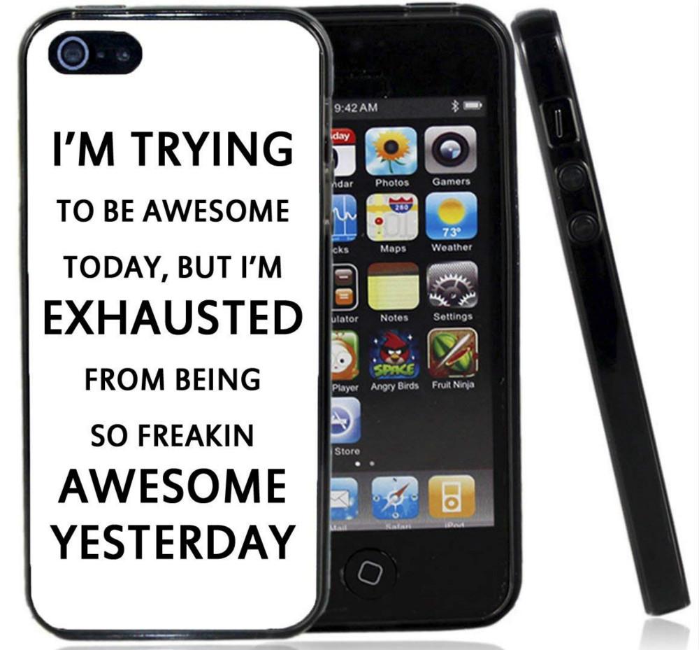 Bugün Müthiş Olmaya çalışıyorum Telefon Kılıfı Için Iphone 5c 5 s 6 s 6 artı 6 splus 7 7 artı Samsung Galaxy S5 S6 S6ep S7 S7ep