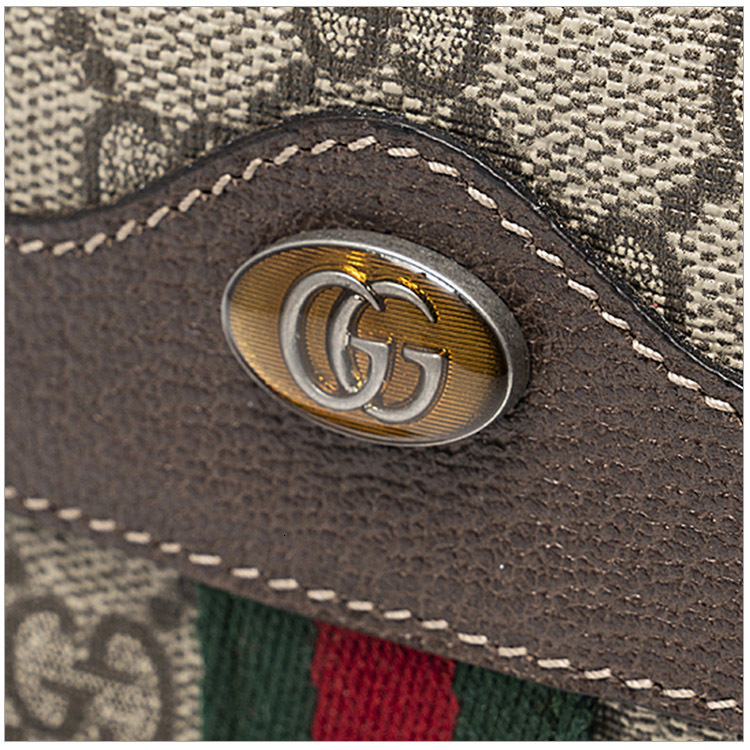 GUCCI / Gucci 19 new red and green striped ladies small leather coin purse 517366 96IWS 8745ES