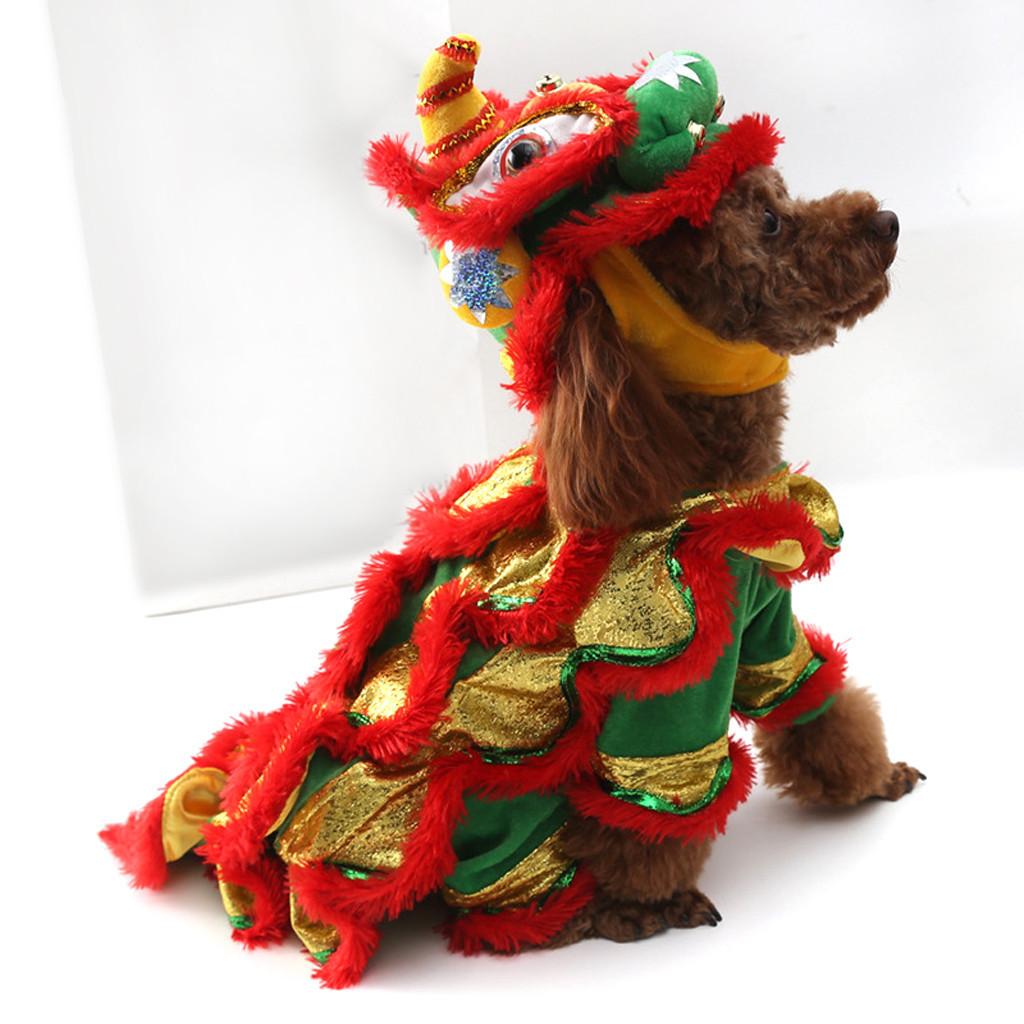 Transer Vermelho Trajes Do Animal de Estimação Terno Do Cão Com Cap Cães Leão Hoodies Cat Coat Roupas Roupas Quatro Estações 19jan10 P40 Y19061901
