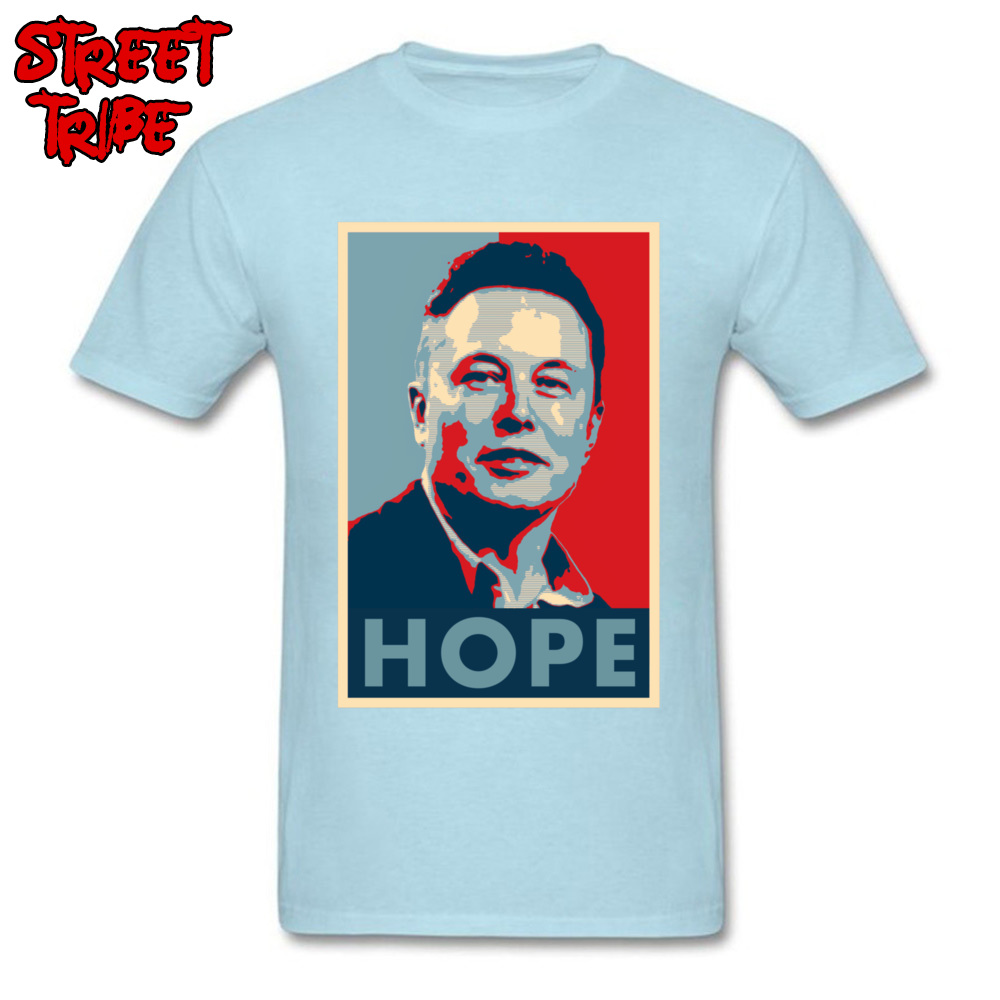 Elon Musk Hope Poster 1459 Printed On Thanksgiving Day Pure Cotton Crew Neck Mens Tops & Tees T-shirts Short Sleeve Top T-shirts Elon Musk Hope Poster 1459 light