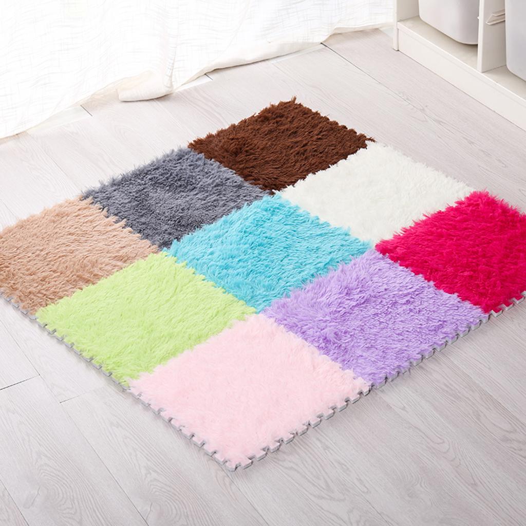 Sol Chambre D Enfant 10 pack 30x30 cm enfants puzzle en mousse eva tapis d'exercice tuiles  autobloquantes coussins revêtement de sol tapis de sol pour la maison salon