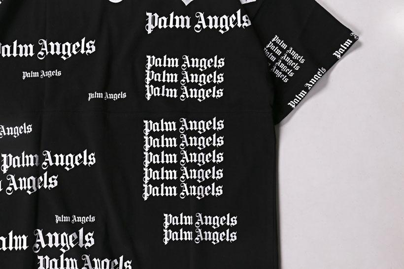 Palm Angels Full Print T Shirt Loose Men Women Hip Hop Streetwear T-shirt High Quality Black White Palm Angels Tshirts Y19072201