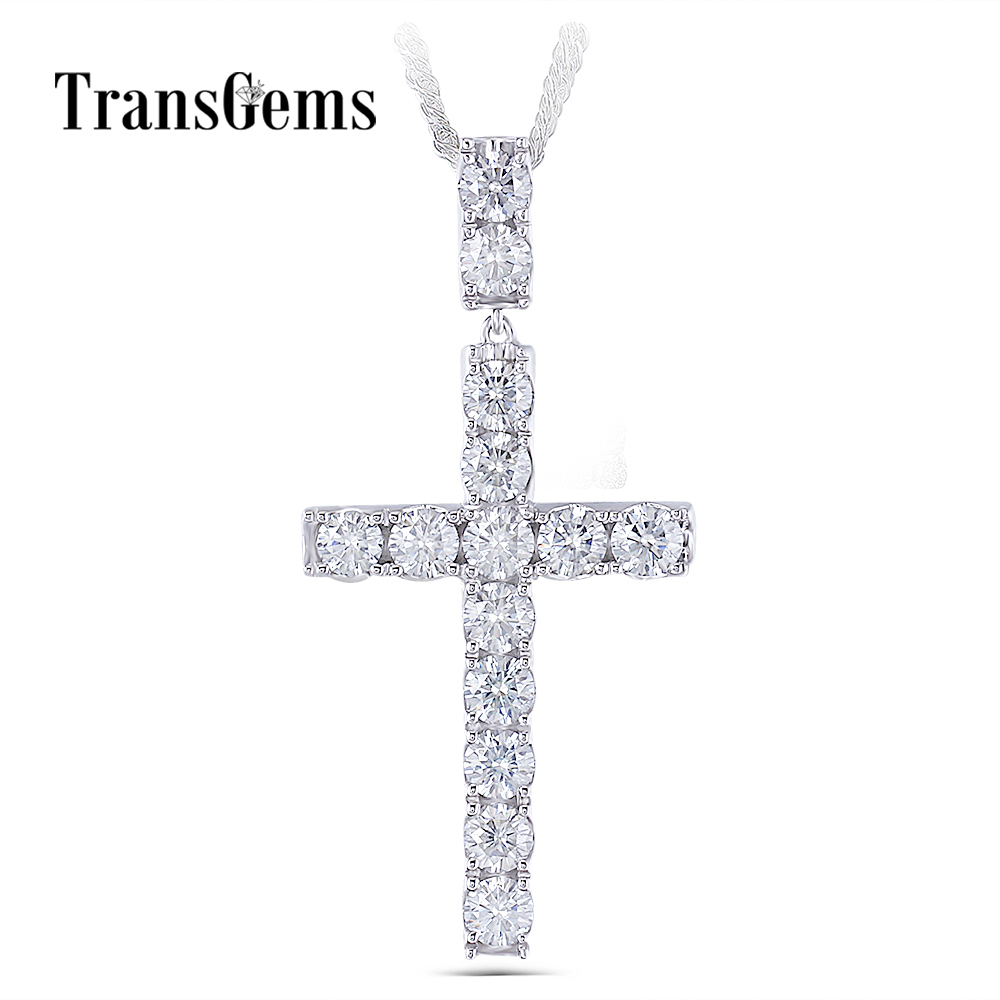 moissanite cross pendant necklace for man (1
