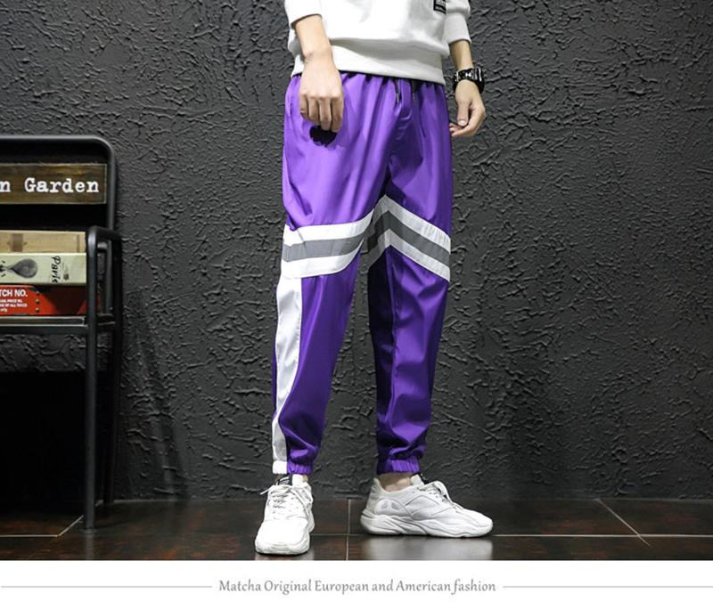 Loose Hip Hop Cargo Pants Men Camouflage Patchwork Harem Mens Trousers Streetwear (1)