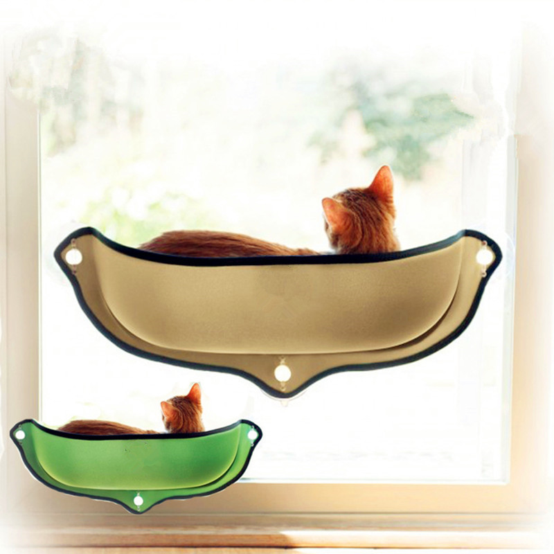 Hammock Window Pod Lounger Suction Cups Warm Bed For Pet Cat Rest House Soft And Comfortable Ferret Cage Q190523