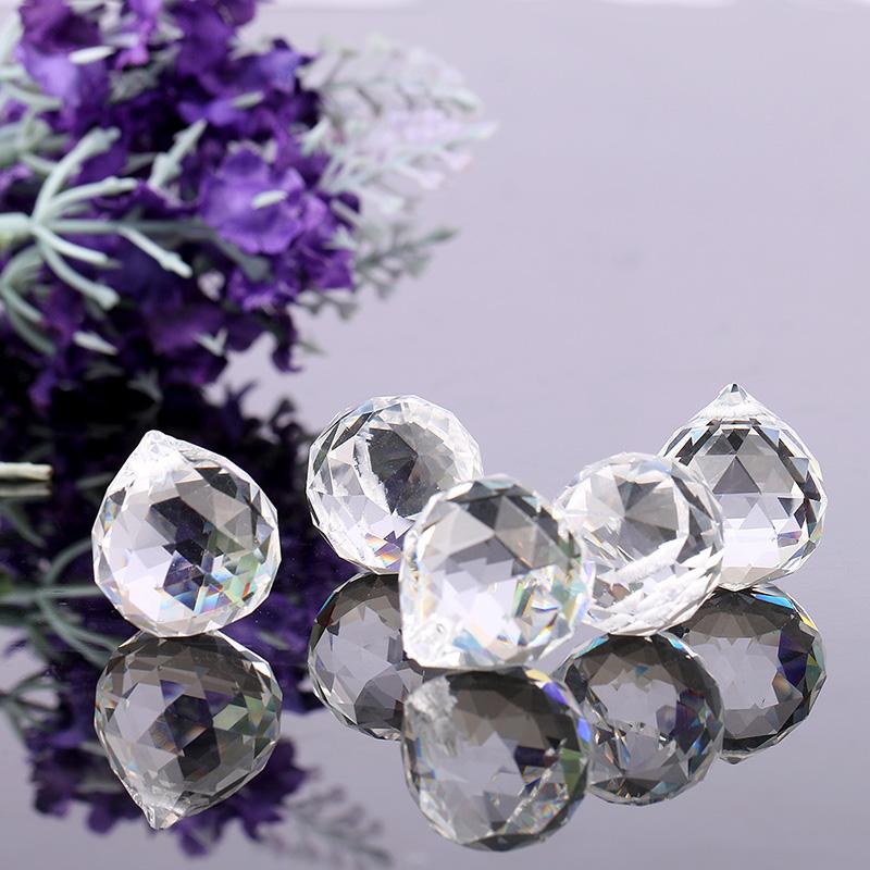 Cristallo 10 pezzi Champagne H /& D 10PCS 20/mm cristallo sfaccettato lampadario prismi goccia pendente lampada portacandele parti