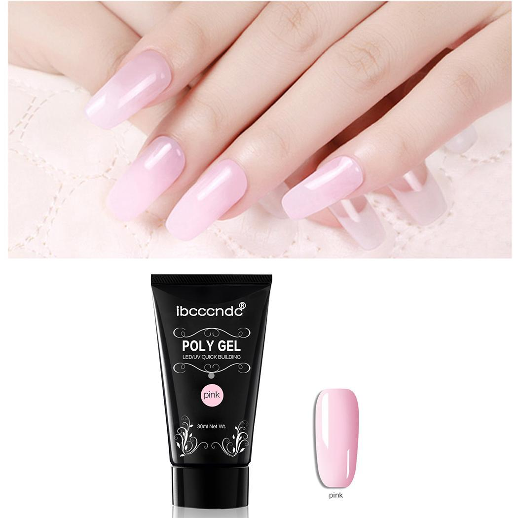 Hot Selling Poly gel Nail Acrylic Poly GelCrystal UV LED Builder Gel Tips Quick Extension Gel