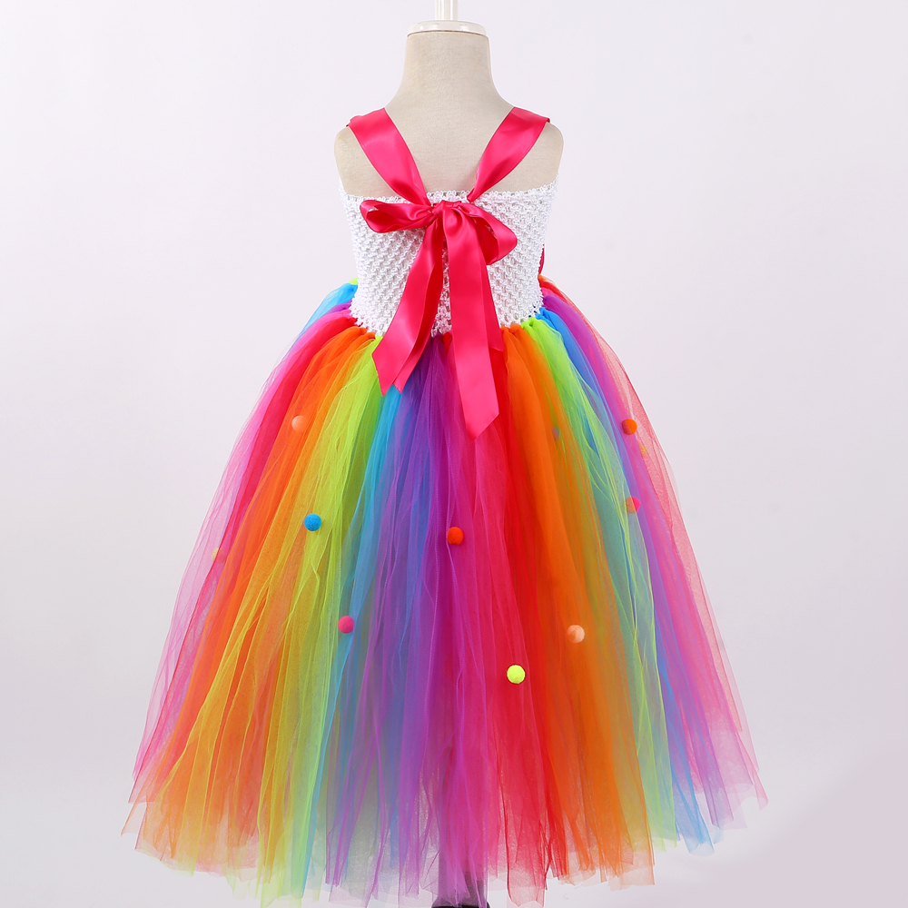 Rainbow Candy Girls Tutu Dress Sweet Lollipop Flower Girl Birthday Party Dress Children Kids Tulle Tutu Dresses For Girls 1-14y J190615