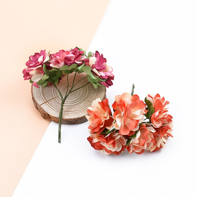 Artificial plants Paper flowers decorative flowers wreaths wedding home decor Carnation scrapbook diy gifts box Christmas