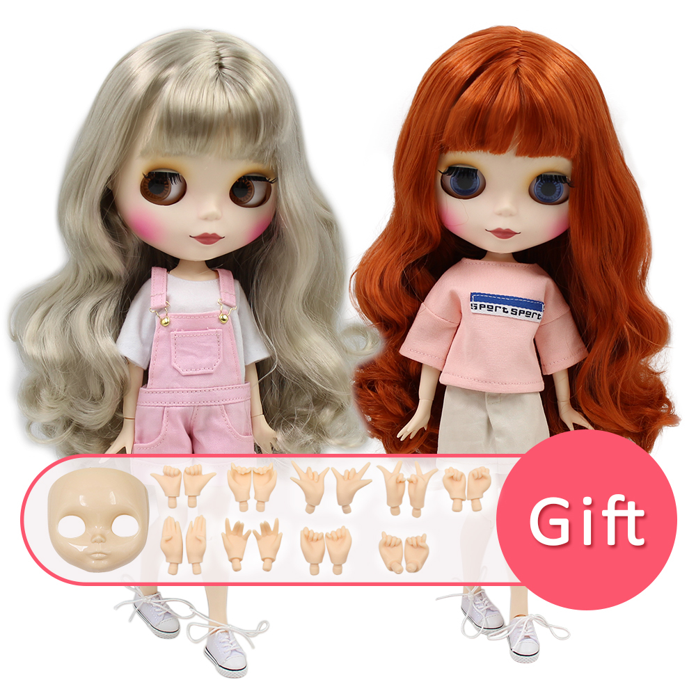1 PC blyth doll frosted face 1//8 20cm normal and joint middle blyth dolls girl