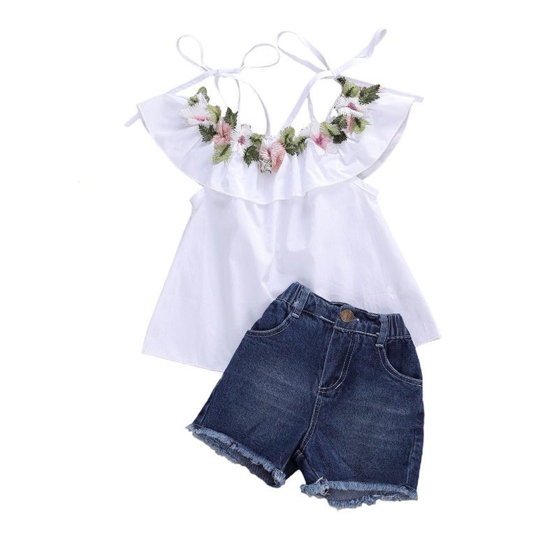 Little Girls Lace Doll Collar Short Sleeve Plaid Shirts Tops and Shorts