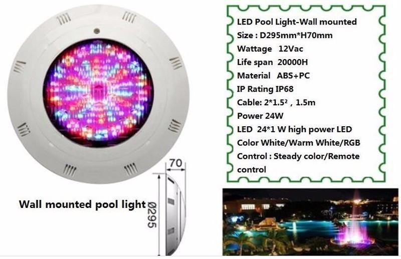 fixé au mur 30w 456leds IP68 RVB LED fontaine lumière LED piscine lumière LED sous-marine lampe RVB couleur avec contrôleur Piscine