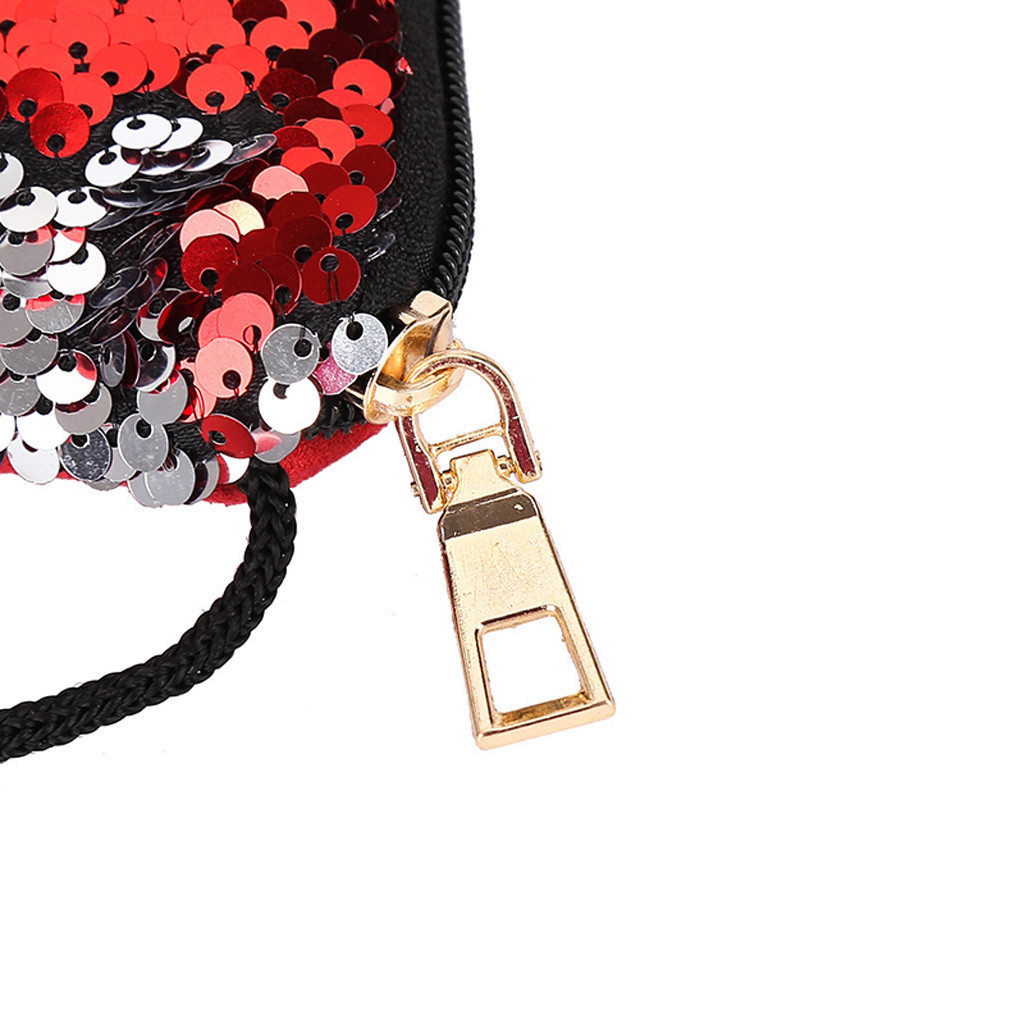 Cheap Womens Child Cartoon Animal Bag Sequin Mini Crossbody Shoulder Bags Messenger Bag Ladies HandBags bolsa feminina