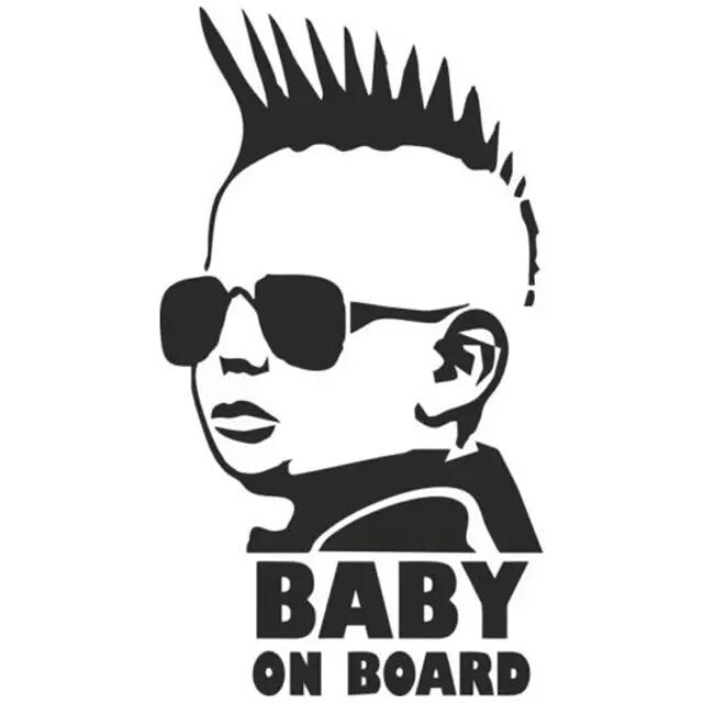 Bangle009 Big Promotion Baby Farmer On Board Vinyl-Aufkleber kreative Cartoon-Warnung Auto-Dekoration wei/ß