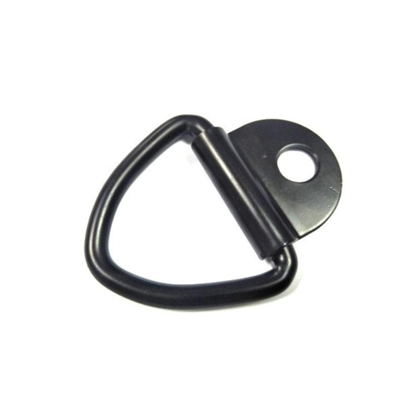 1pc 12KN D Shape Black Carabiner Screw Lock Hook Small Keyring Camping Black