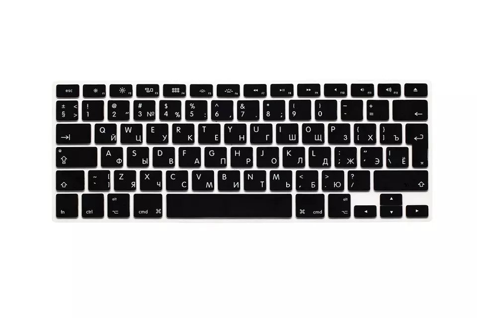 EU US Soft Silicon For Macbook Air 13 A1466 Keyboard Cover Russian Language Cover For Macbook Air 13 Retina13 Keyboard Cover (2)