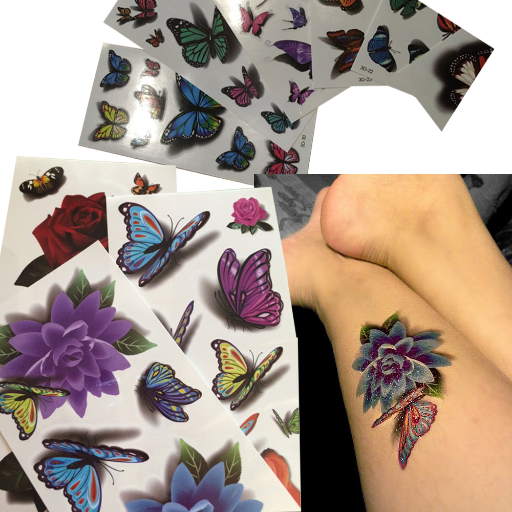 36 SheetsLot Beautiful Body Art Beauty Makeup Cool Waterproof Temporary Tattoo Stickers Henna Tattoos Halloween Girls And Men (80)