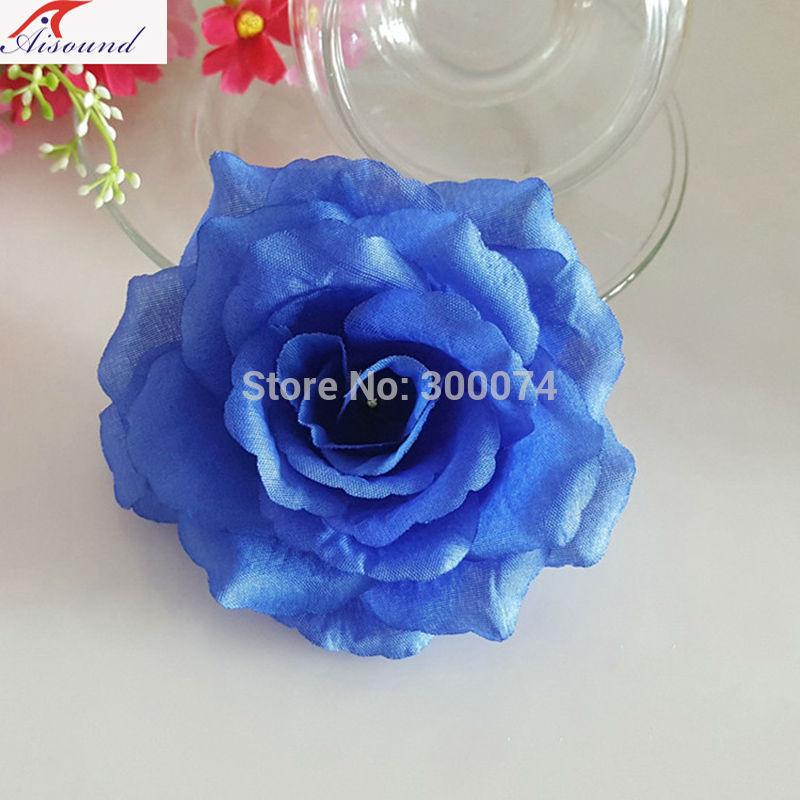 Royal blue rose flowers for pillar decoration