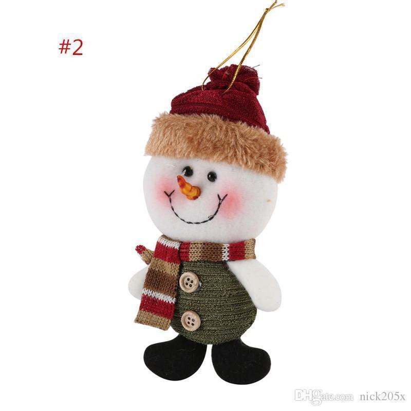 2017 Christmas Gift Santa Claus Snow Man Doll Christmas Decorations Xmas Tree Gadgets Ornaments Doll Party Supplies