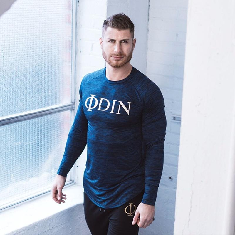 Men Long Sleeve T Shirt Sport gym shirt (7)