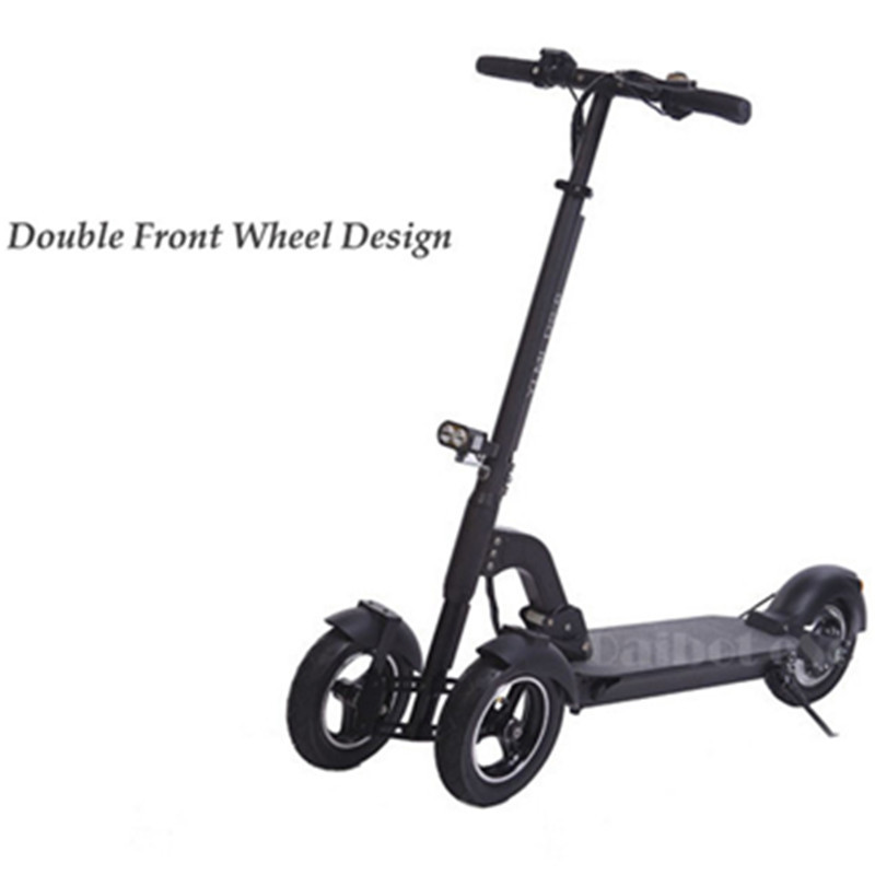 Daibot 3 Wheel Electric Scooter With Seat Electric Scooters 8 inch 400W 36V500W 48V Folding Electric Skateboard For Adults (12)