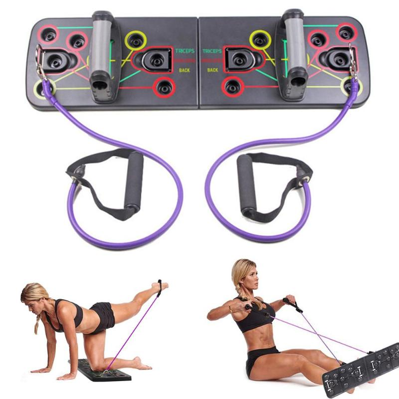 Push Up Board Color-Coded Push-up Stands with Handle Protector for Bodybuilding Strength Training and Exercise Foldable and Portable Push-Up Board System for Men Women Home Fitness Training