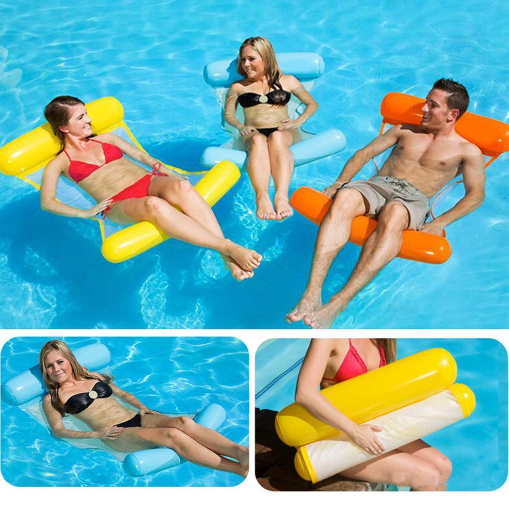 New Summer Outdoor Swimming Chair Inflatable Folding Floating Water Hammock Fashion New Portable Inflatable Swimming Chair