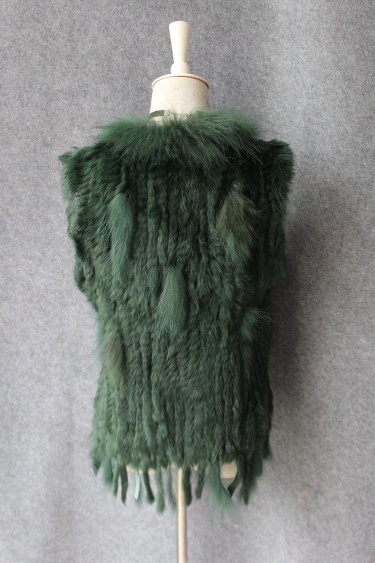 genuine real rabbit fur vest with raccoon fur collar (36)